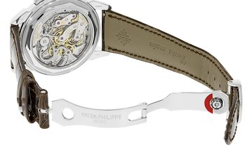 Patek Philippe Grand Complications Platinum Perpetual Salmon Dial Watch 5270P-001