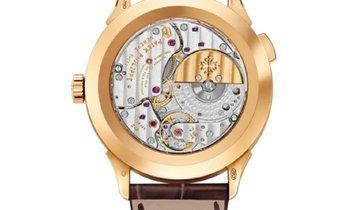 Patek Philippe Complications Yellow Gold World Time Cloisonne  Enamel Dial Watch 5231J-001