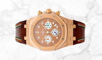 Audemars Piguet 26161OR.OO.D088CR.01 Royal Oak Chronograph Sachin Tendulkar 18K Rose Gold