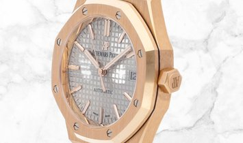 Audemars Piguet 15450OR.OO.1256OR.01 Royal Oak Selfwinding 18K Rose Gold Nickel Grey Dial