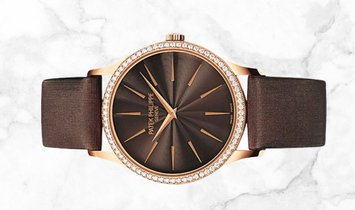 Patek Philippe Calatrava 4897R-001  Rose Gold Chocolate Brown Guilloched Dial