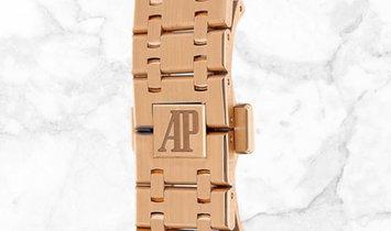 Audemars Piguet 15451OR.ZZ.1256OR.04 Royal Oak Selfwinding 18K Rose Gold Brown Coloured Dial