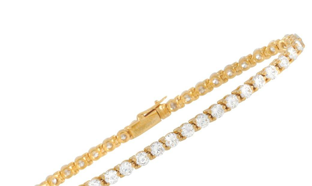 Cartier Cartier 18K Yellow Gold 4.00 ct Diamond Tennis Bracelet