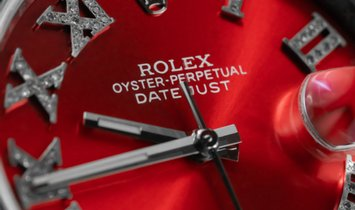 Rolex DateJust 126300 Royal Red Bespoke Piece Diamond Set
