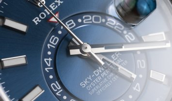 Rolex Sky-Dweller 326934-0003 Oystersteel and White Gold Blue Dial