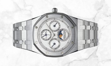 Audemars Piguet 25820SP.OO.0944SP.03 Royal Oak Perpetual Calendar Stainless Steel and 950 Platinum