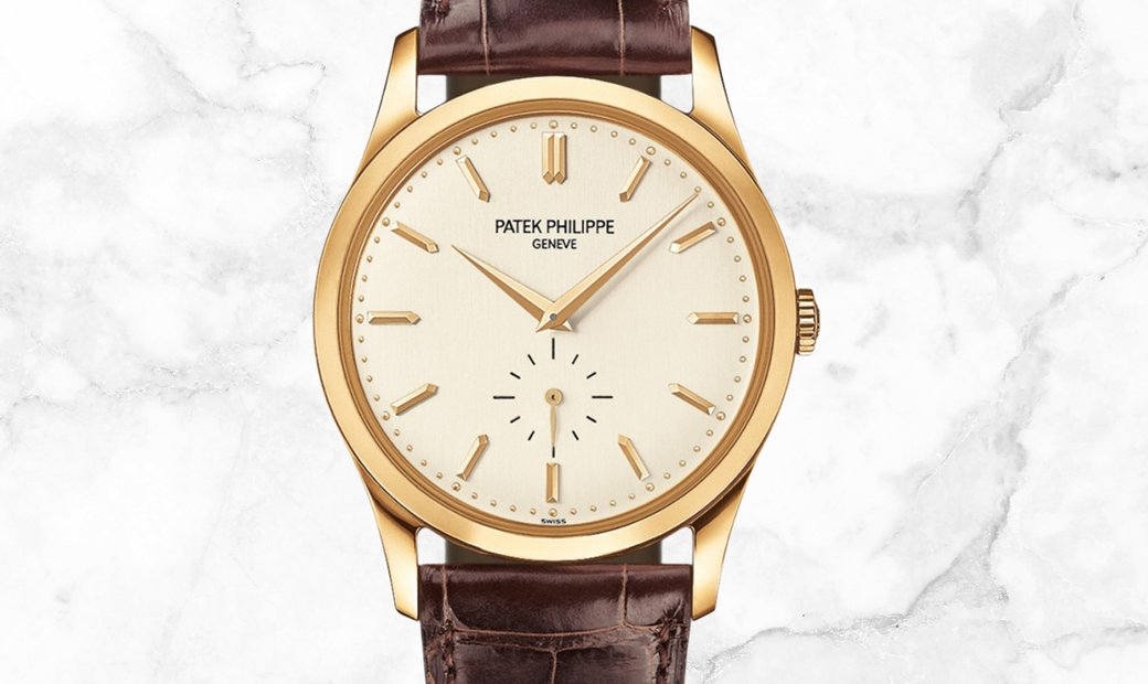 Patek Philippe Calatrava 5196J-001 Small Seconds in Yellow Gold Silvery Opaline Dial