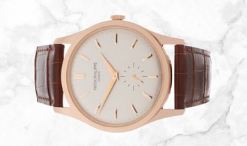 Patek Philippe Calatrava 5196R-001 Small Seconds in Rose Gold with Silvery Gray Dial