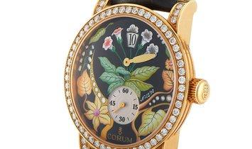 Corum Corum Rose Gold Diamond Flower Dial Watch 154.201.65