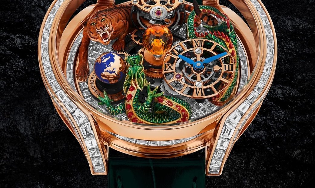 Jacob & Co. 捷克豹 [NEW MODEL] Astronomia Solar Baguette Dragon and Tiger Tourbillon
