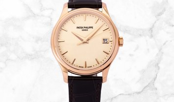 Patek Philippe Calatrava 5227R-001 Date and Sweep Seconds in Rose Gold Ivory Lacquered Dial