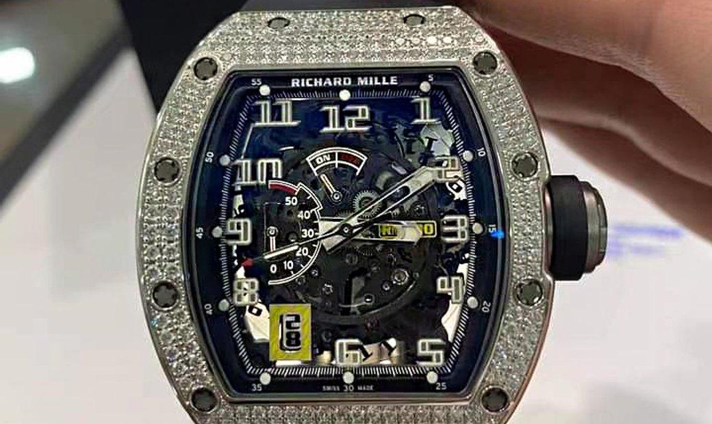 Richard Mille [NEW] RM 030 White Gold Full Set Diamonds Watch