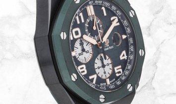 Audemars Piguet 26405CE.OO.A056CA.01 Royal Oak Offshore Chronograph Black Ceramic Smoked Green Dial