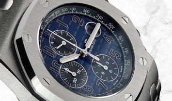 Audemars Piguet 26470PT.OO.1000PT.02 Royal Oak Offshore Chronograph 950 Platinum Smoked Blue Dial