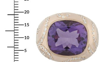 LB Exclusive LB Exclusive 18K Rose Gold 1.65 ct Diamond & Amethyst Ring