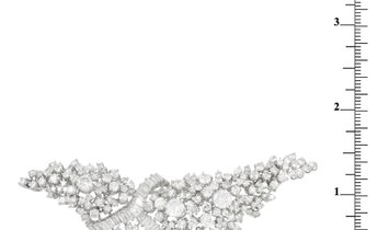 LB Exclusive LB Exclusive 18K White Gold 11.50 ct Diamond Brooch