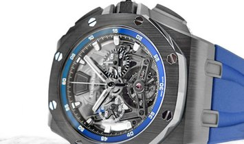 Audemars Piguet 26407CE.OO.A030CA.01 Royal Oak Offshore Tourbillon Chronograph Ceramic Sapphire Dial