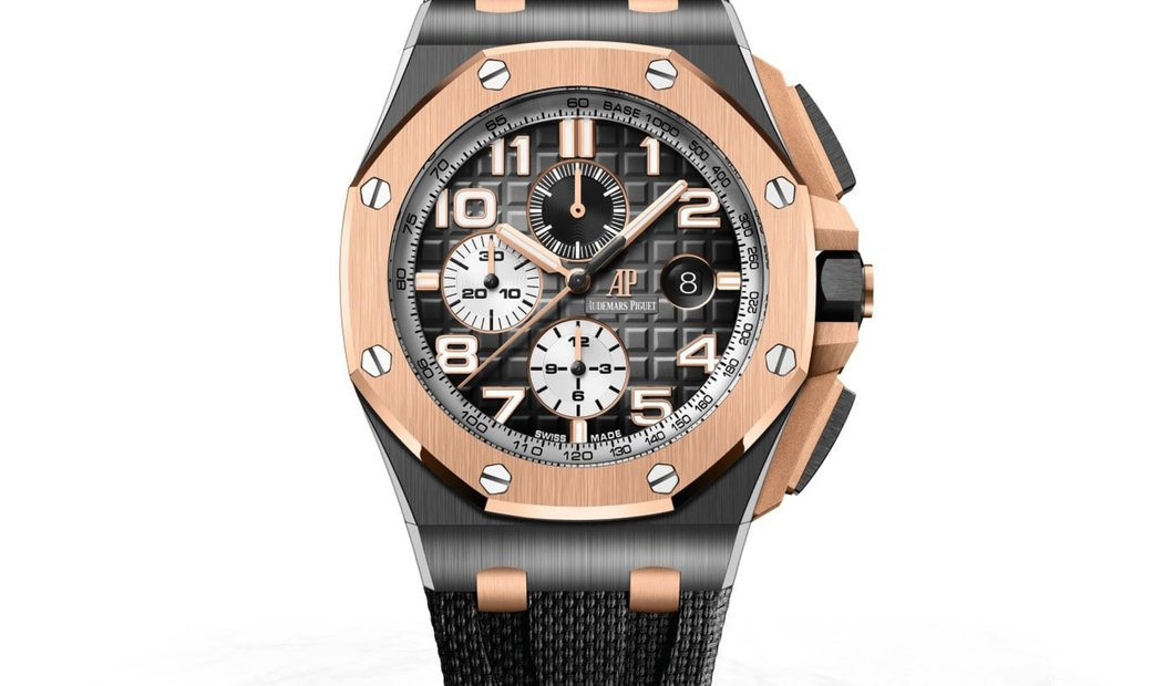 Audemars Piguet 26405NR.OO.A002CA.01 Royal Oak Offshore Chronograph Black Ceramic Smoked Grey Dial