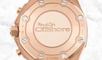 Audemars Piguet 26231OR.ZZ.D003CA.01 Royal Oak Offshore Chronograph 18K Rose Gold Case Silver Dial