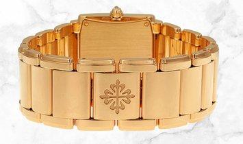 Patek Philippe Twenty - 4  4910/11R-010 Rose Gold Chocolate Dial Diamond Set Case, Crown and Dial