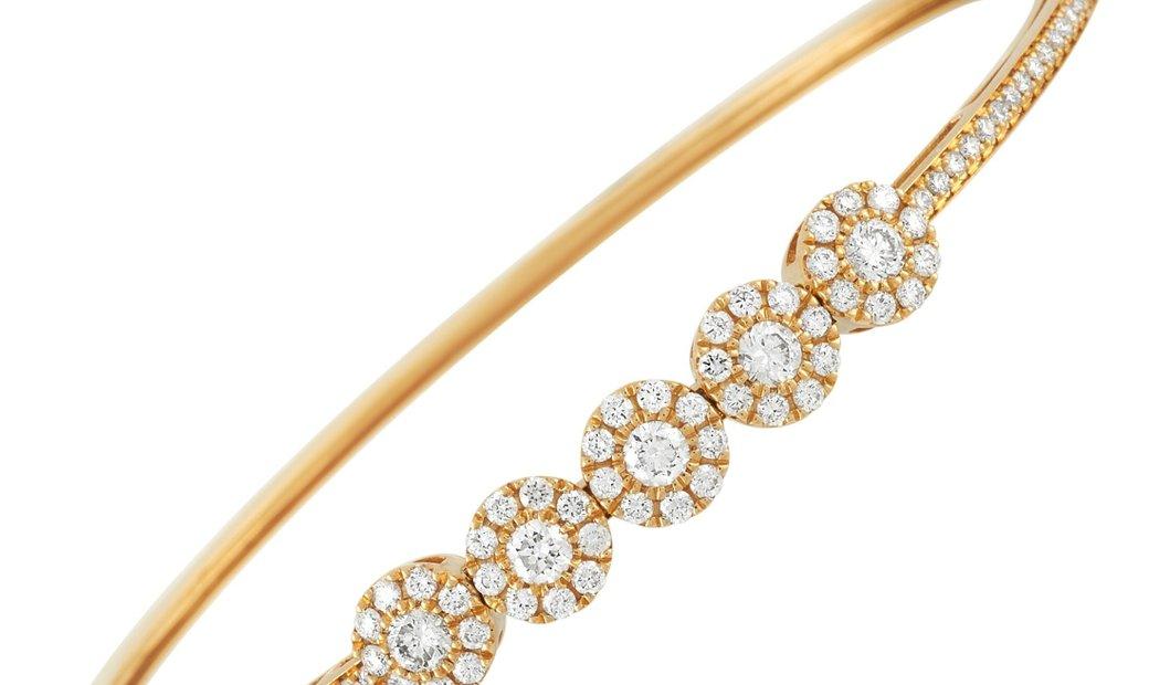 LB Exclusive LB Exclusive 18K Yellow Gold 2.00 ct Diamond Bangle Bracelet
