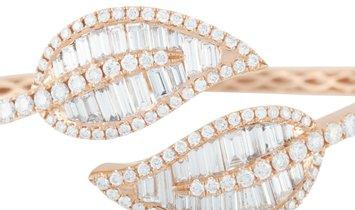 LB Exclusive LB Exclusive 18K Rose Gold 6.03 ct Diamond Leaf Bangle Bracelet