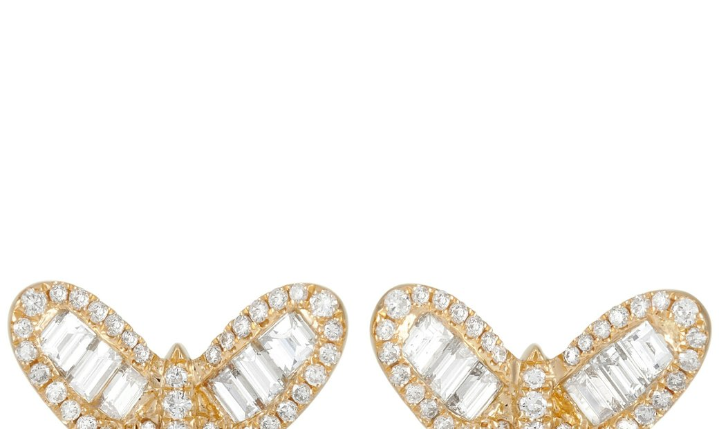LB Exclusive LB Exclusive 18K Yellow Gold 2.50 ct Diamond Butterfly Earrings