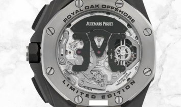 Audemars Piguet 26387IO.OO.D002CA.01 Royal Oak Offshore Tourbillon Chronograph Titanium Silver Dial