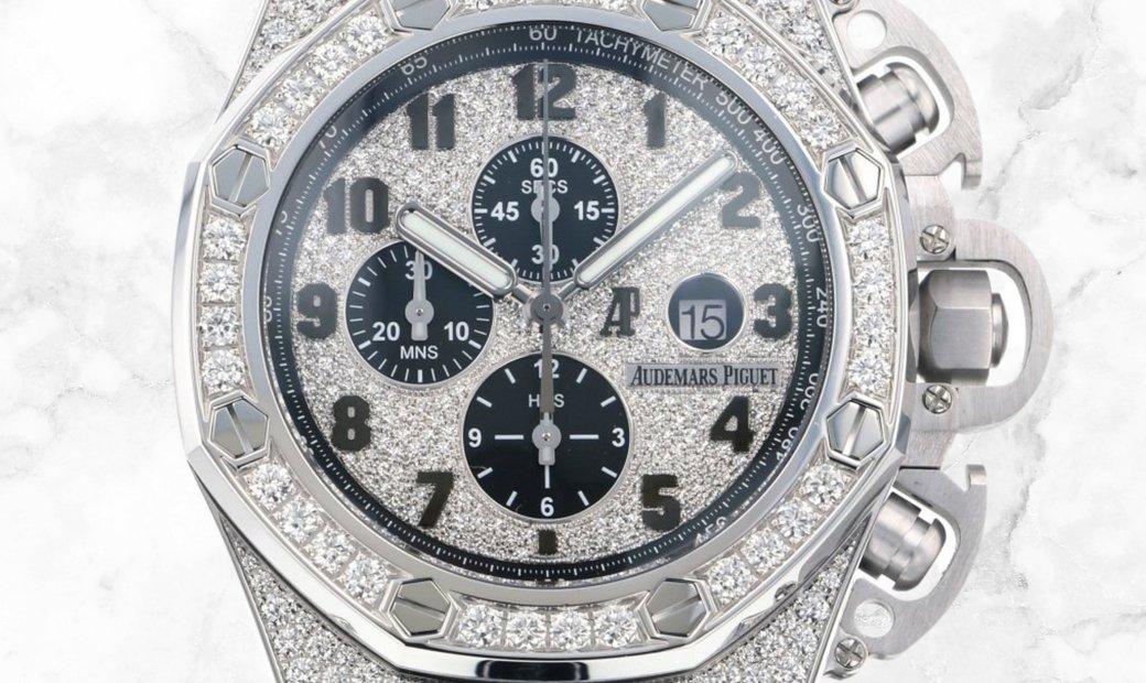 Audemars Piguet 26215BC.ZZ.A101CR.01 Royal Oak Offshore  Chronograph Diamond-Set 18K White Gold