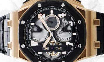 Audemars Piguet 26288OF.OO.D002CR.01 Royal Oak Offshore Tourbillon Chronograph Rose Gold Black  Dial