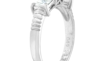LB Exclusive LB Exclusive Platinum 0.49 ct Diamond and Sapphire Ring