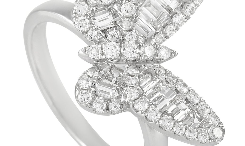 LB Exclusive LB Exclusive 18K White Gold 1.33 ct Diamond Butterfly Ring