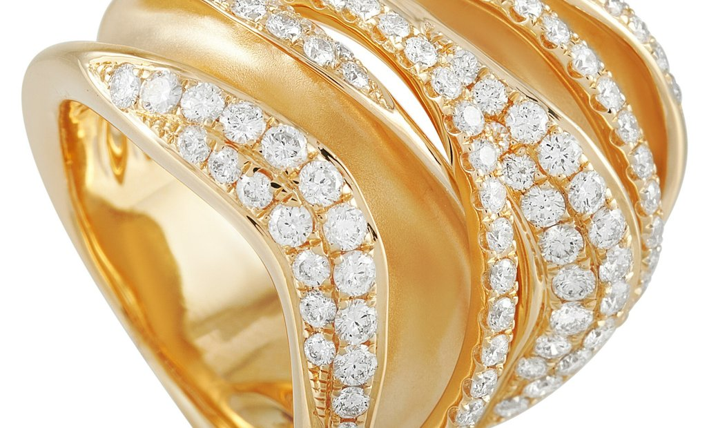 LB Exclusive LB Exclusive 18K Yellow Gold 1.90 ct Diamond Statement Ring