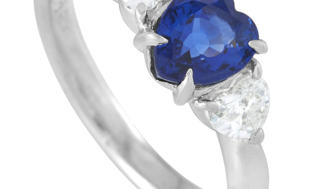 LB Exclusive LB Exclusive Platinum 0.34 ct Diamond and Sapphire Ring