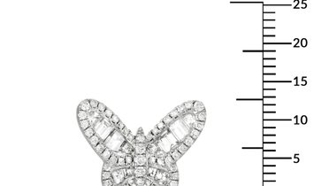 LB Exclusive LB Exclusive 18K White Gold 2.50 ct Diamond Butterfly Stud Earrings