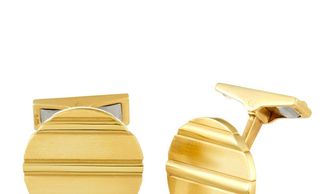 Piaget Piaget 18K Yellow Gold Round Cufflinks
