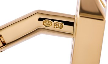 Asprey Asprey 18K Yellow Gold 2.00 ct Diamond and Ruby Cufflinks