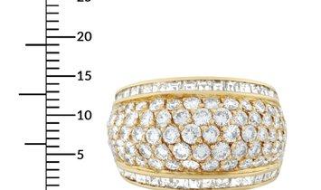 Graff  Graff 18K Yellow Gold 3.51 ct Diamond Wide Dome Ring