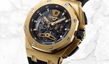 Audemars Piguet 26407BA.OO.A002CA.01 Royal Oak Offshore Tourbillon Chronograph 18K Yellow Gold