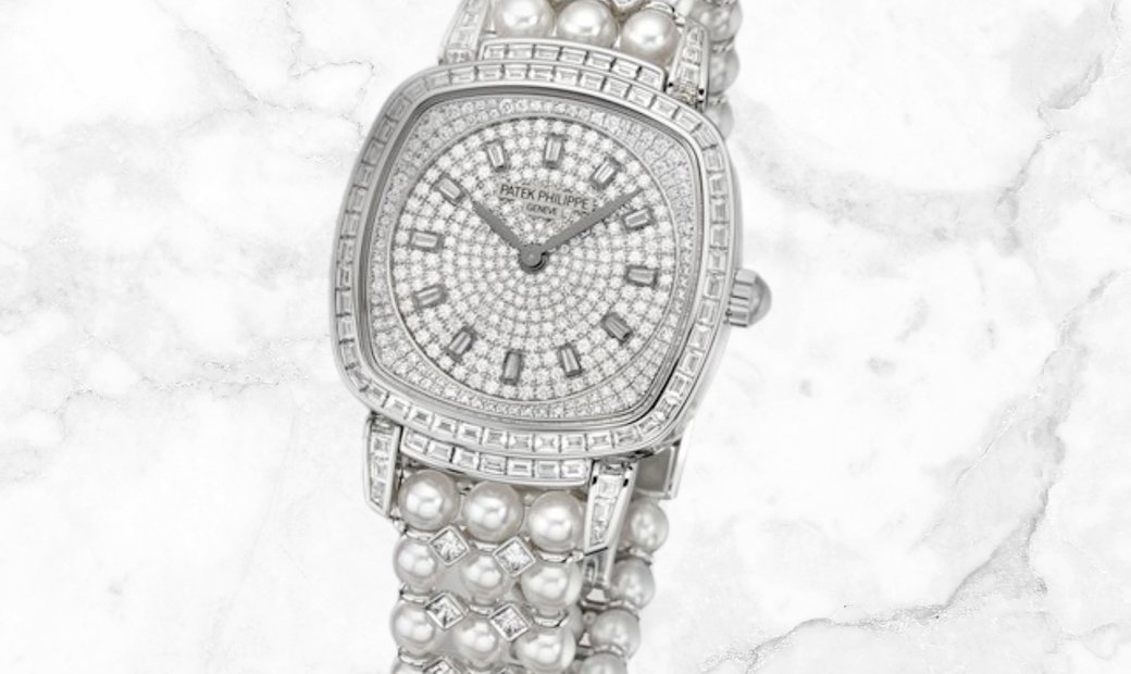 Patek Philippe Gondolo Haute Joaillerie 7042/100G-010 White Gold Akoya Pearls Diamond Set