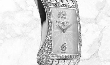 Patek Philippe Gondolo Serata 4972/1G-001 Quartz White Gold Diamond Set MOP Dial