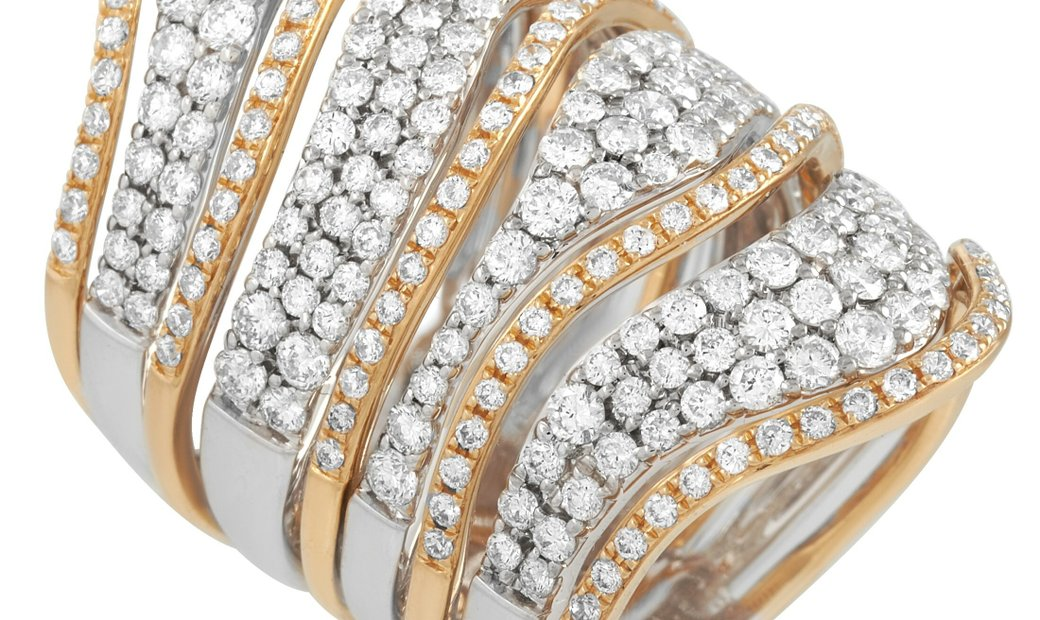 LB Exclusive LB Exclusive 18K White and Yellow Gold 3.00 ct Diamond Ring
