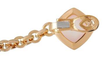 Valente Milano Valente Milano 18K Yellow Gold 0.37 ct Diamond, Rose Quartz, and White Agate Dangle E