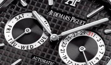 Audemars Piguet 26330ST.OO.1220ST.01 Royal Oak Day & Date Stainless Steel Black Coloured Dial