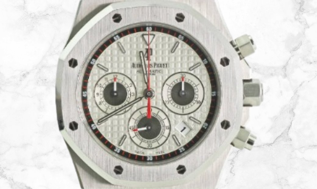 Audemars Piguet 26300ST.OO.1110ST.06 Royal Oak Chronograph Stainless Steel Silvered Dial