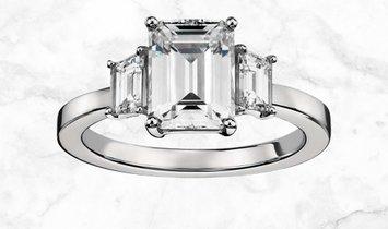 2.50 CT Emerald-Cut Diamond Engagement Ring in Platinum