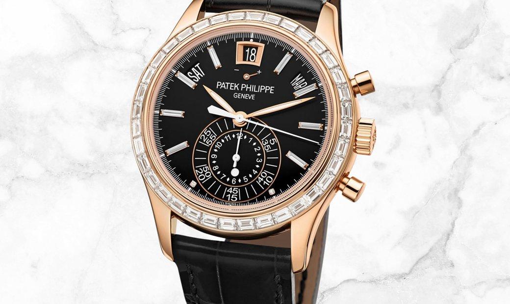 Patek Philippe Complications 5961R-010 Chronograph Annual Calendar in Rose Gold Diamond Set