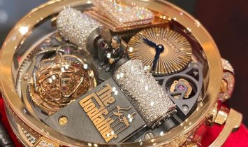 Jacob & Co. 捷克豹 [NEW MODEL] Opera Godfather Diamond Tourbillon OP810.40.RD.UA.A