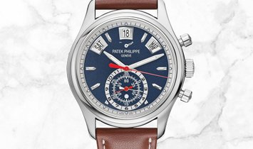 Patek Philippe Complications 5960/01G-001 Flyback Chronograph Annual Calendar White Gold