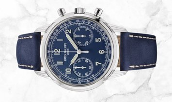 Patek Philippe Complications 5172G-001 Chronograph White Gold Blue Dial